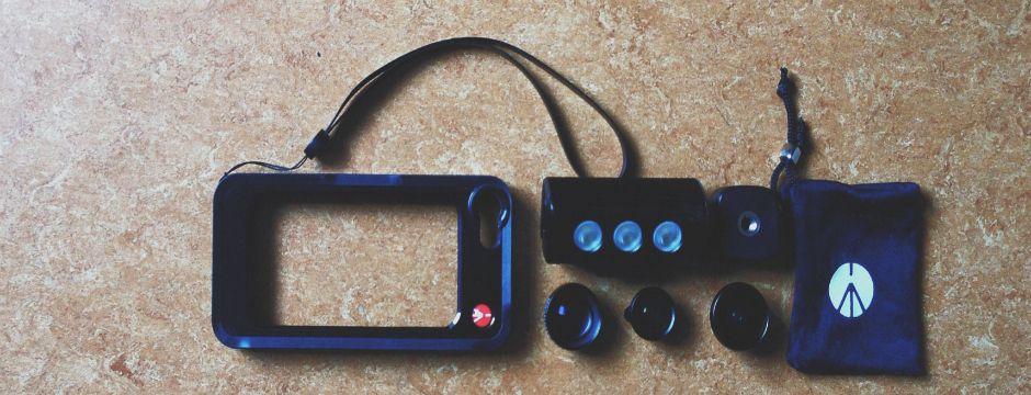 Aufstecklinsen für das iPhone: Manfrotto Klyp