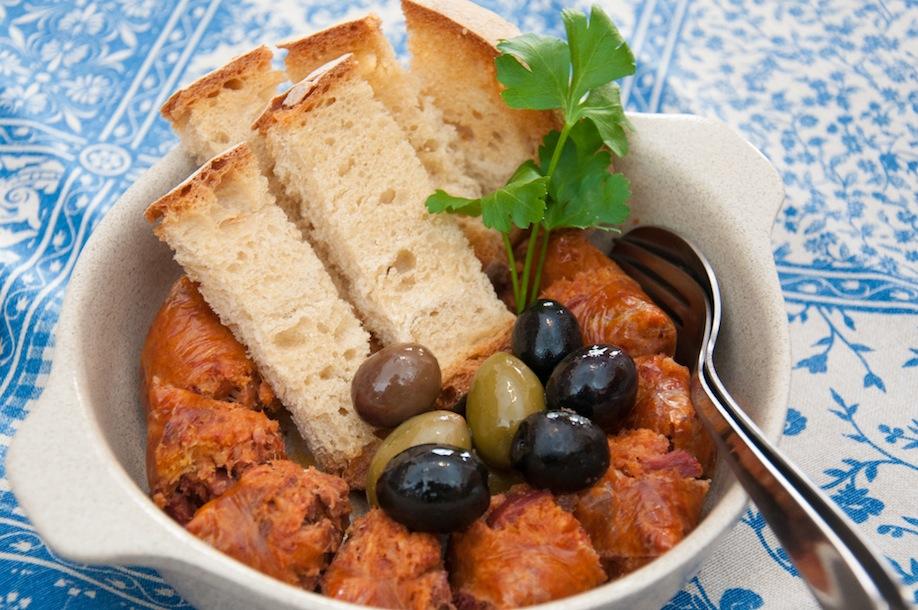 1_L'alheira est une saucisse portugaise typique. De belles présentations se prêtent à faire de belles photos
