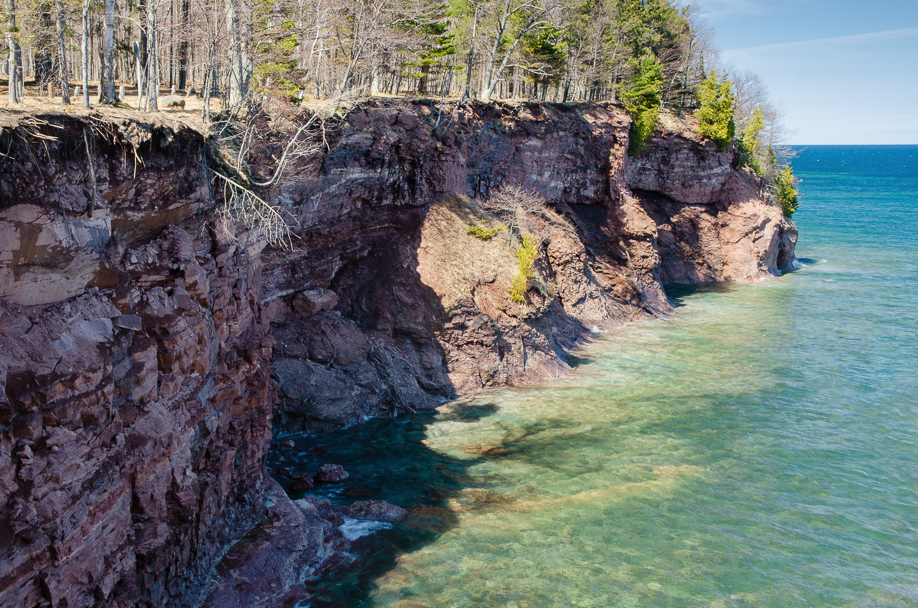 The rugged shoreline of Lake Superior can make travel difficult when carrying a traditional tripod