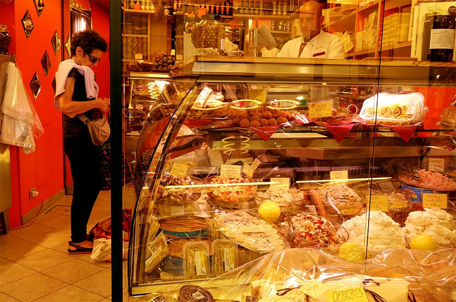 北イタリアぶらり探訪 ひとり旅 お惣菜屋さん