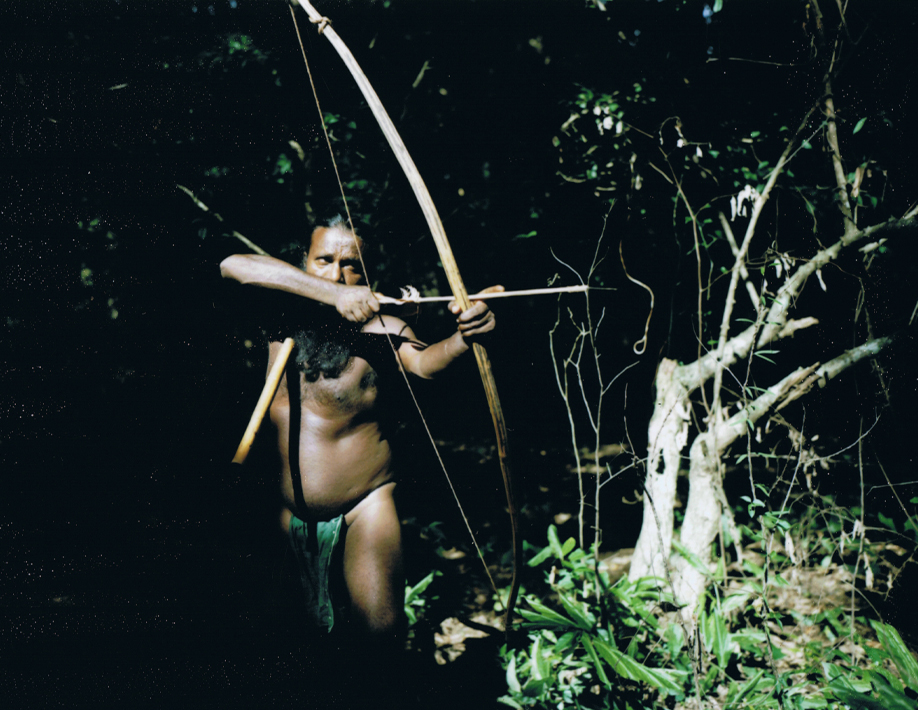 Sri Lanka - Mamiya Universal & Polaroid back - Fuji FP100C film - ©jaimelemonde.fr - Vedda tribesman hunting