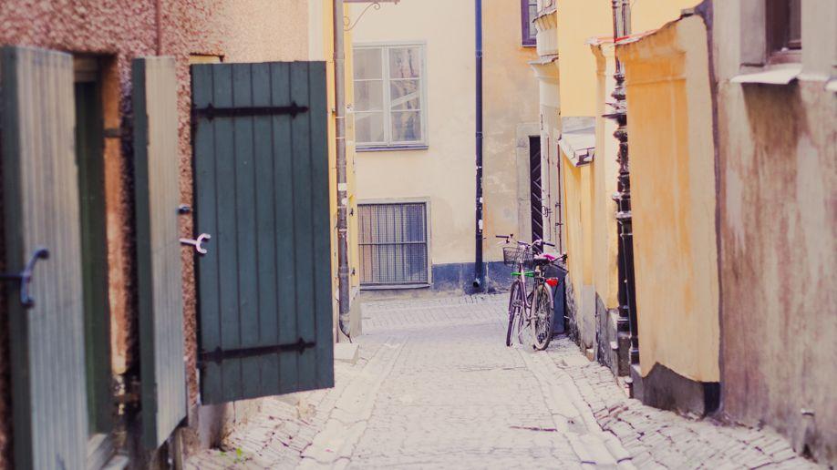 Fahrrad in der Stockolmer Altstadt