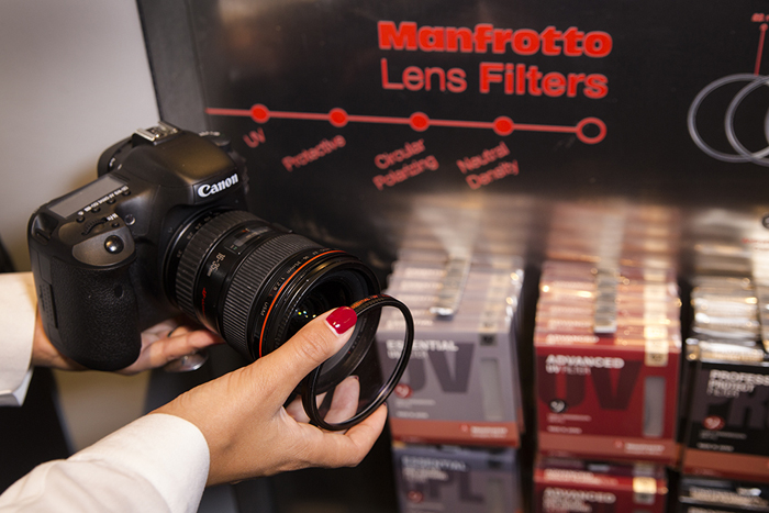 New Manfrotto Filters Neutral density filters reduce the amount of light hitting the camera sensor without altering the color of the scene. They are used in a variety of situations, for example in low shutter speed photography for expressing the motion of moving object through long exposure time or to eliminate the moving object in a scene.