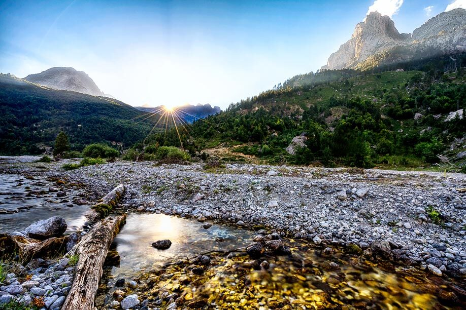 Albanian-Creek-Sunset