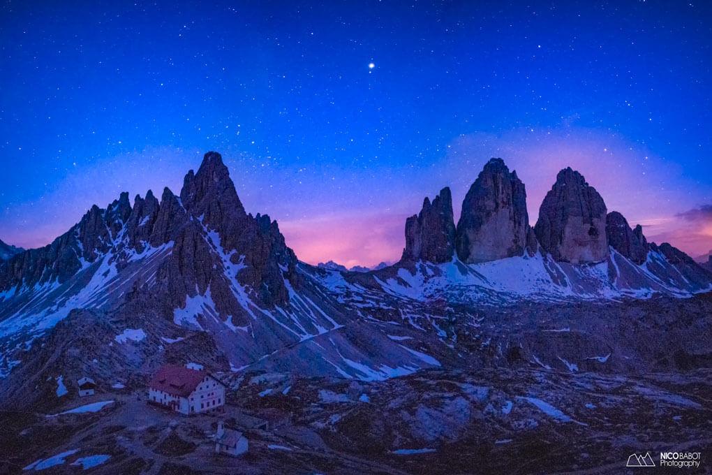 Tre Cime di Lavaredo Astrophotography