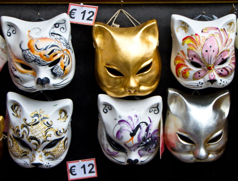 Venice Kitty Masks for 12 Euros