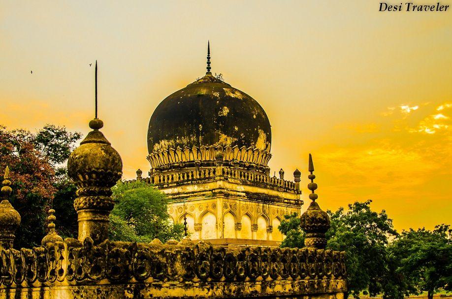 Qutub Shahi tombs by Desi Traveler