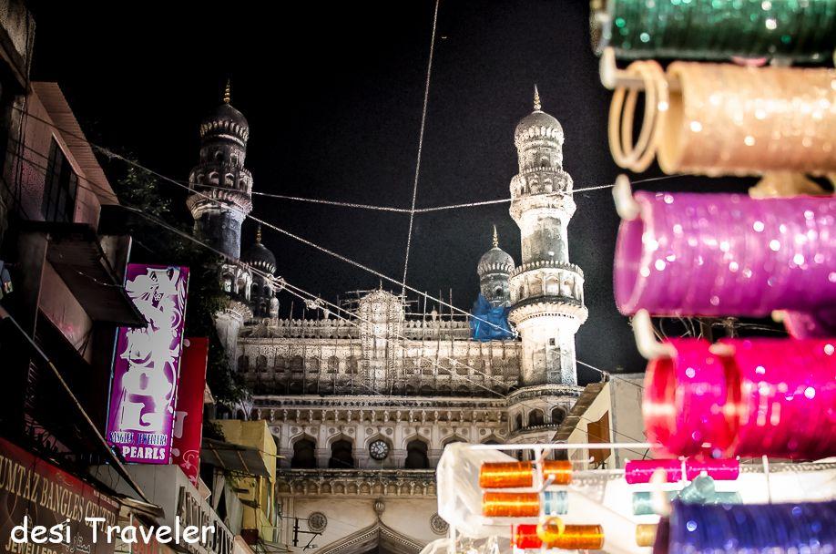 Charminar seen in night bazar