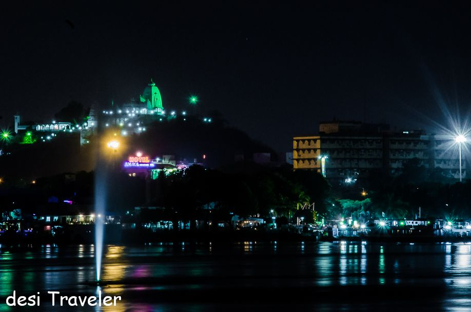Birla mandir seen in night