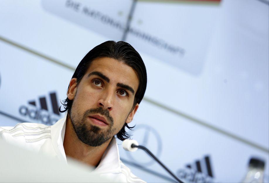 Sami Khedira at a press conference
