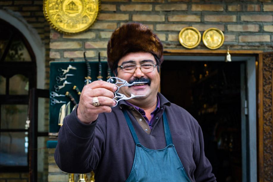 Uzbek Man With Scissors
